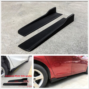 2Pcs 45CM Car Side Skirt Rocker Splitters Winglet Wings Canard Diffuser Shovel
