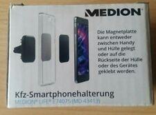 Medion Handyhalterung Magnet Lüftung Gitter Universal Smartphone KFZ Halter NEU