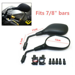 Rearview Mirror 8mm Handlebar Mount for Motorcycle Scooter Moped ATV Universal