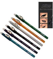 Crayon yeux taille-crayon avec paillettes vert doré argenté noir violet ou bleu