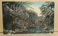 W37) Postcard copyright 1904 by Rand LOVERS LEAP DERRY NH winter water scene