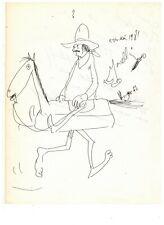 Dessin Original au Feutre Signé. Bande dessinée, 1er salon de livre à Paris 1981