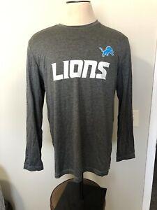 Detroit Lions Long Sleeve Dark Gray Active Shirt Size XL NFL Football