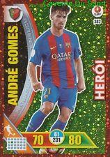 382 ANDRE GOMES FC.BARCELONA HEROI CARTAO METAL CARD ADRENALYN LIGA 2017 PANINI