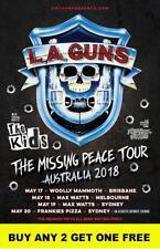 LA GUNS 2018  Laminated Australian Tour Poster