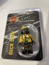"Brickmania Modern US Navy Deck Crew ""Yellow Shirts"" AKA ABH Minifigure"