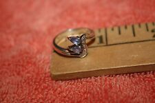 Sterling Silver 925 Ring with 2 Lavendar Stones Size 6 3/4