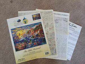 The Little Mermaid Disney Dreams Cross Stitch 16x12 Thomas Kinkade PATTERN ONLY