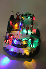 Christmas decorations led fiber optic christmas village nutcracker music scene &