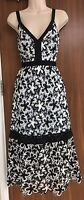 Self-Portrait A-Line Floral-Lace Midi Dress Size UK 14