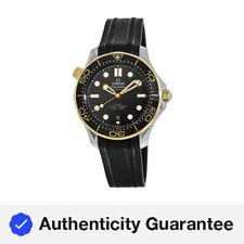 Omega 210.22.42.20.01.001 Seamaster 42MM Reloj De Goma Negra para Hombre