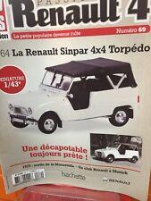 4 Sinpar 4x4 4L21L Voiture hachettes 1//43 IXO Renault R 4 L