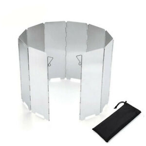 Aluminum Alloy 10 Plates Outdoor Folding  Camping Stove Windscreen Cooking