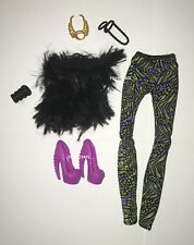 Monster High Fierce Rockers Clawdeen Wolf Doll Fashion Outfit Clothes Shoes NEW