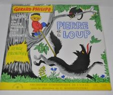 PIERRE ET LE LOUP French Story LP Record Gerard Philipe Serge Prokofiev