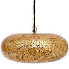 New Marrakesh Golden Oval Ceiling Lamp Handmade Hanging Light Indoor Pendant