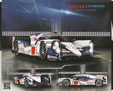 2014 TOYOTA TS040 HYBRID WEC LE MANS WURZ DAVIDSON PROMO STATISTIC CARD BROCHURE