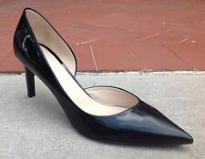 Max Mara Women's Shoes Black Patent Leather Pointy Toe Heels Pumps Size 8 (38.5)