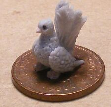 1:12 Scale Hand Made Polymer Clay Grey Dove Dolls House Miniature Garden Bird