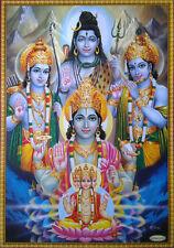 Lord Vishnu, Shiva, Brahma, Rama, Krishna - POSTER * Big Size: 20x28
