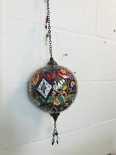Beautiful Colorful Ball Hang, Vintage Traditional Handmade 16 cm Diameter Bal...