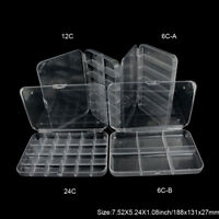 Aventik Transparent Box Strong Poly carbonate Fly Fishing Box Lure Box Hook Box