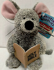 Christian Cuddlies Matthew Mouse With Bible Plush Toy Stuffed Animal Mouse NEW