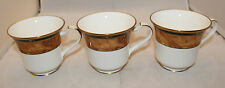 Noritake Japan Set of 3 Bone China Cabot Footed Coffee Tea Mug Cups Only 9785