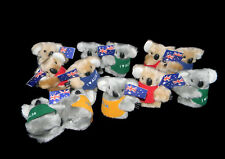 36 Australian Souvenir Plush Australia Koala Flag Clip On Toy Bulk