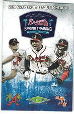 2020 Atlanta Braves Pocket Schedule Mike Soroka Freddie Freeman Ronald Acuna JR