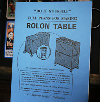 Plans for the Rolon Table from Murphy's Magic - Book