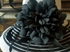 plaza suite hat fashion/derby style new without tags $40 PLUS SHIPPING blk/white