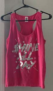 Zumba  - Shine All Day Racerback Tank Top - Berry Large