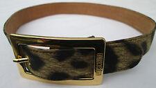 - AUTHENTIQUE    ceinture MOSCHINO  cuir  TBEG  vintage
