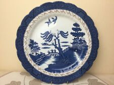 Booths A 8025 Real Old Willow Large Round Charger / Chop Plate / Platter 30cm