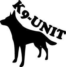 K9-UNIT German Shepherd police dog vinyl decal sticker