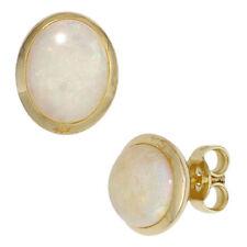 Ohrstecker oval 585 Gold Gelbgold 2 Opale Ohrringe Goldohrstecker