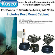 Kasco Aeration Robust-Aire KIT RA2PM Ponds To 3.0 Surface Acres 120V, POST MOUNT
