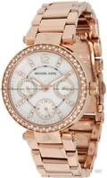 WOMENS MICHAEL KORS MK5616 MINI PARKER ROSE GOLD LADIES WATCH 2 YEARS WARRANTY