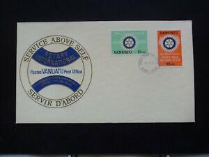 Vanuatu First day cover FDC 1980 Rotary international