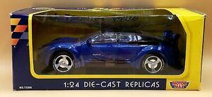MotorMax 1997 Pontiac Rageous BLUE 1:24 Diecast Metal Car SEALED BOX