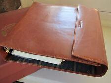 Piquadro Tamponato leather personal organizer/agenda/diary + glasses case AG725