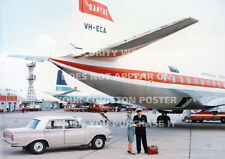 HOLDEN EH SPECIAL WITH QANTAS ELECTRA A3 POSTER PRINT PHOTO PICTURE IMAGE x