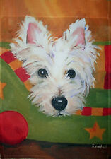 WESTIE POISE GARDEN FLAG RESCUE FREE SHIP USA