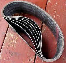 "rle 4 SANDING BELTS SiC FOR 3"" x 8"" EXPANDING DRUM, ANY GRIT"