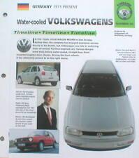 VOLKSWAGEN VW History Brochure : Scirocco,Golf GTI,POLO,FOX,PASSAT,BEETLE,LUPO,