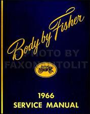 1966 Oldsmobile Body Repair Manual 66 Olds 442 Cutlass F85 88 98 Toronado