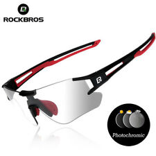 RockBros Photochromic Cycling Sunglasses Sports Eyewear Uv400 Goggles Black Red