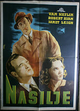 ACT OF VIOLENCE Zinnemann Van Heflin Janet Leigh 1948 ORIGINAL YUGO MOVIE POSTER