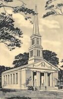 Albion Michigan~Albion College~Goodrich Chapel~Architect's Drawing~1940s Sepia